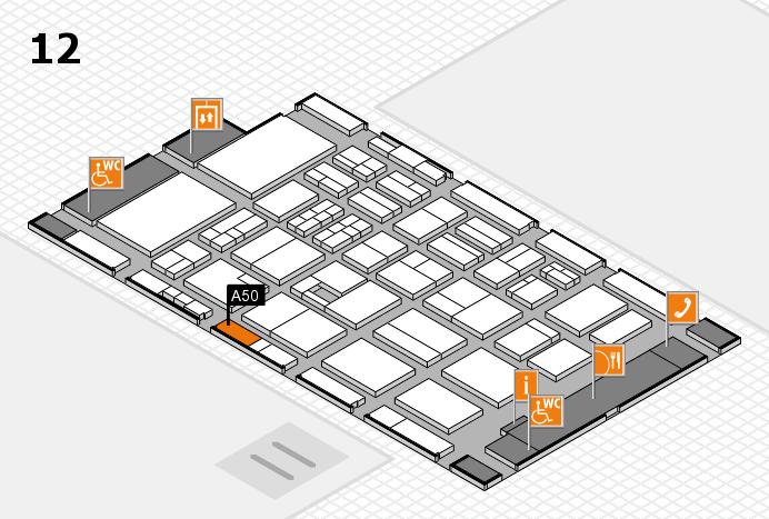 BEAUTY DÜSSELDORF 2017 Hallenplan (Halle 12): Stand A50