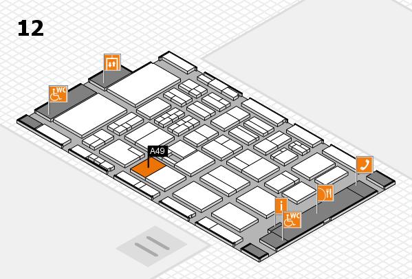 BEAUTY DÜSSELDORF 2017 hall map (Hall 12): stand A49