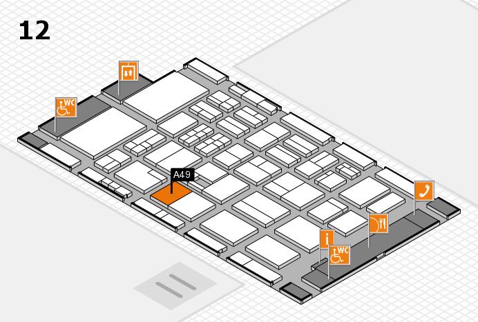 BEAUTY DÜSSELDORF 2017 Hallenplan (Halle 12): Stand A49