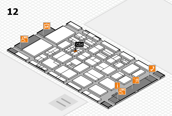BEAUTY DÜSSELDORF 2017 hall map (Hall 12): stand C54