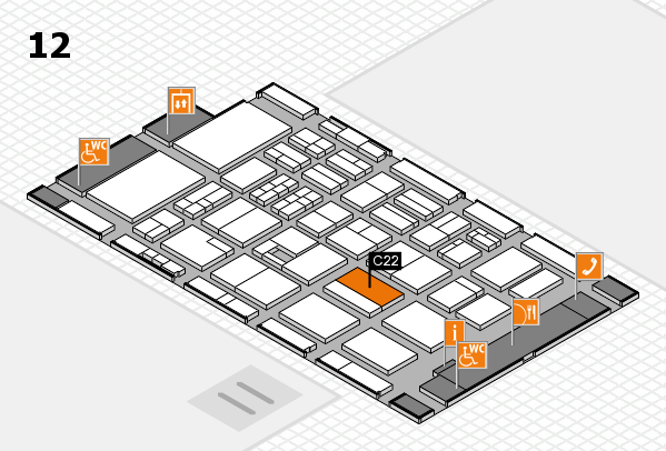 BEAUTY DÜSSELDORF 2017 hall map (Hall 12): stand C22