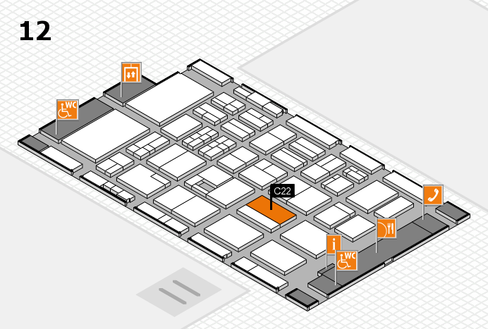 BEAUTY DÜSSELDORF 2017 Hallenplan (Halle 12): Stand C22