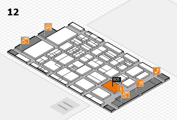 BEAUTY DÜSSELDORF 2017 hall map (Hall 12): stand B05