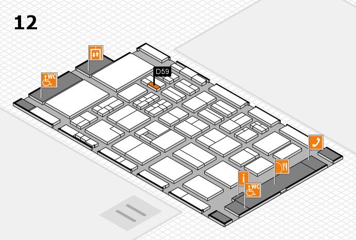 BEAUTY DÜSSELDORF 2017 hall map (Hall 12): stand D59