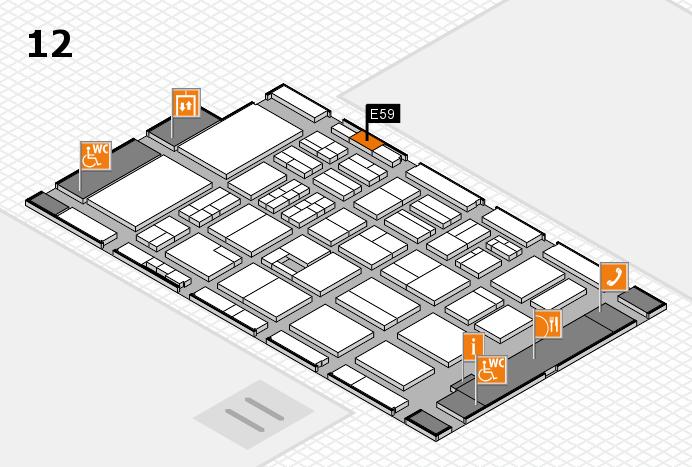 BEAUTY DÜSSELDORF 2017 Hallenplan (Halle 12): Stand E59