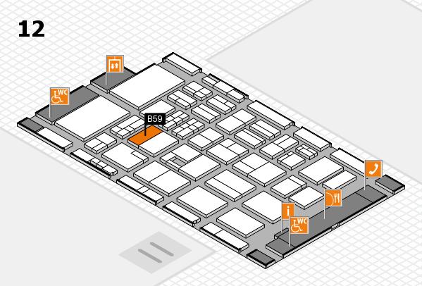 BEAUTY DÜSSELDORF 2017 Hallenplan (Halle 12): Stand B59