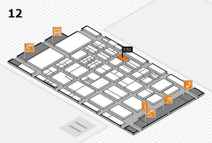 BEAUTY DÜSSELDORF 2017 Hallenplan (Halle 12): Stand E50