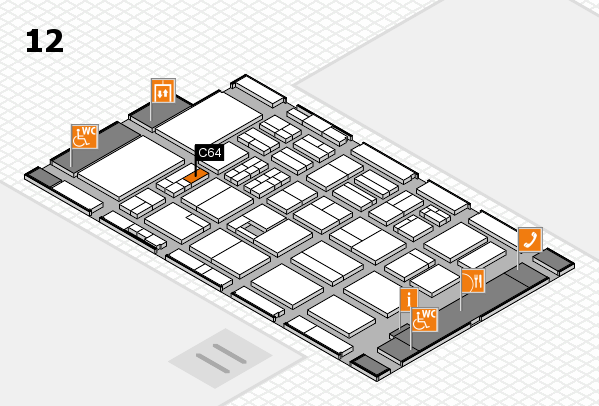 BEAUTY DÜSSELDORF 2017 hall map (Hall 12): stand C64