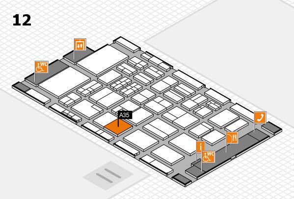 BEAUTY DÜSSELDORF 2017 Hallenplan (Halle 12): Stand A35