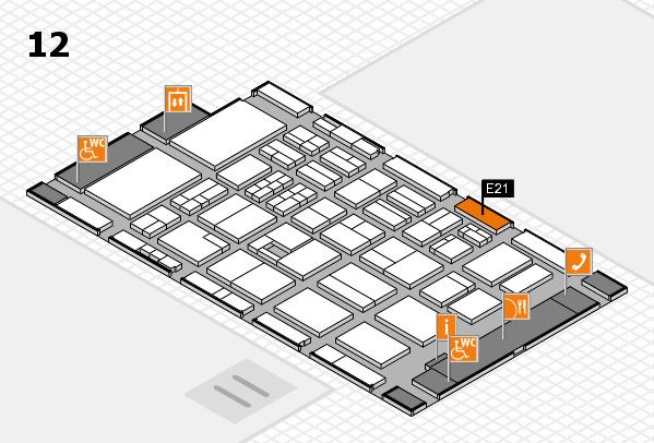 BEAUTY DÜSSELDORF 2017 hall map (Hall 12): stand E21