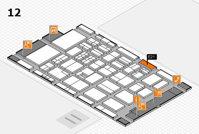 BEAUTY DÜSSELDORF 2017 Hallenplan (Halle 12): Stand E21