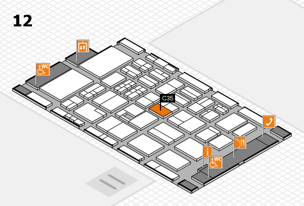 BEAUTY DÜSSELDORF 2017 Hallenplan (Halle 12): Stand C35