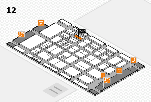 BEAUTY DÜSSELDORF 2017 hall map (Hall 12): stand D47