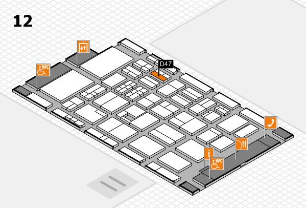 BEAUTY DÜSSELDORF 2017 hall map (Hall 12): stand D47