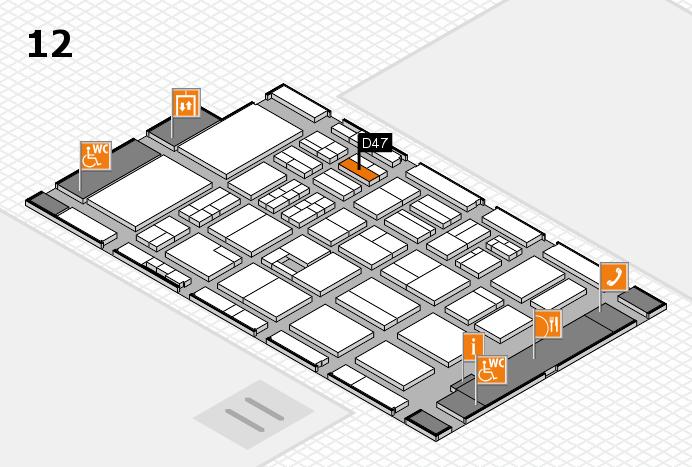 BEAUTY DÜSSELDORF 2017 Hallenplan (Halle 12): Stand D47