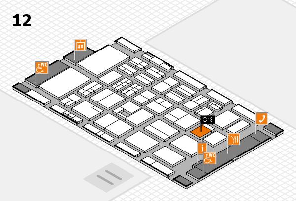 BEAUTY DÜSSELDORF 2017 hall map (Hall 12): stand C13