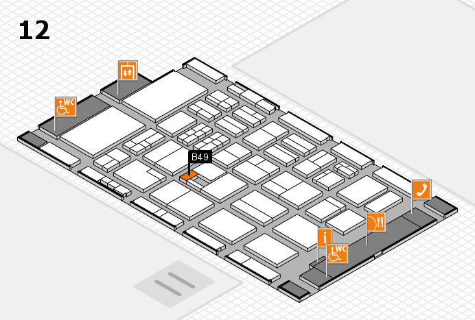 BEAUTY DÜSSELDORF 2017 hall map (Hall 12): stand B49