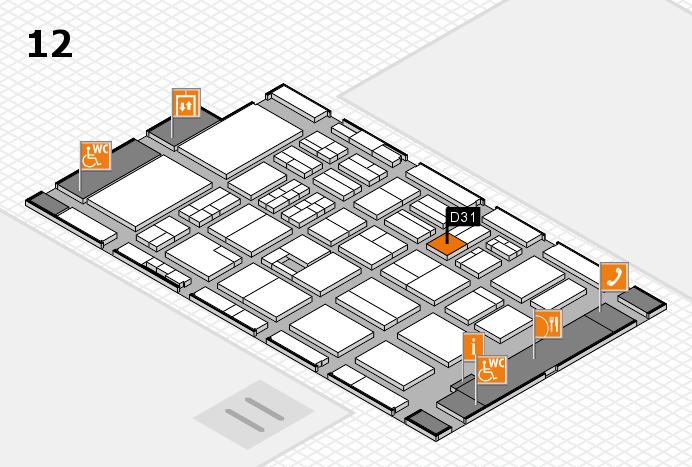 BEAUTY DÜSSELDORF 2017 Hallenplan (Halle 12): Stand D31