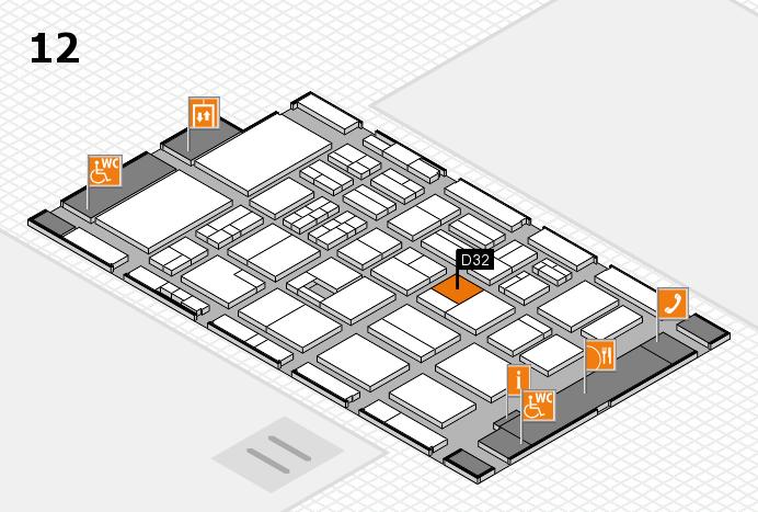 BEAUTY DÜSSELDORF 2017 Hallenplan (Halle 12): Stand D32