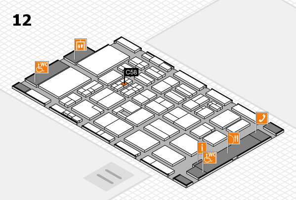 BEAUTY DÜSSELDORF 2017 hall map (Hall 12): stand C58