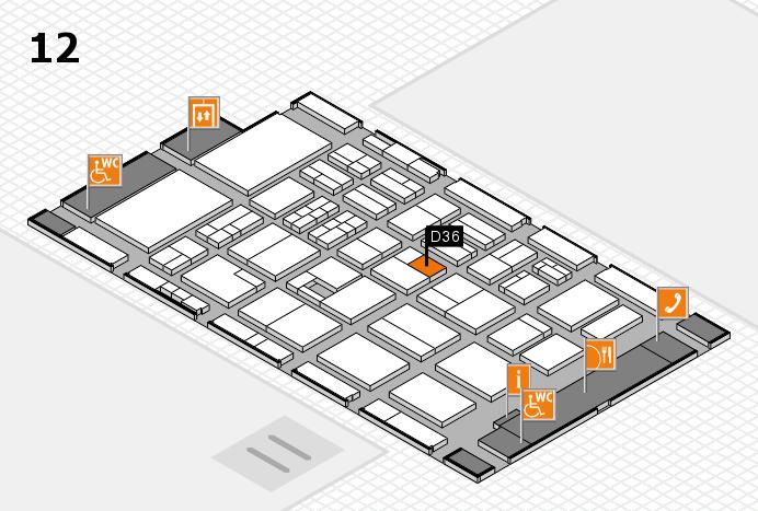 BEAUTY DÜSSELDORF 2017 Hallenplan (Halle 12): Stand D36