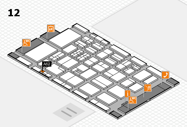 BEAUTY DÜSSELDORF 2017 hall map (Hall 12): stand A62