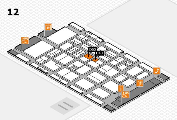 BEAUTY DÜSSELDORF 2017 hall map (Hall 12): stand D40, stand D50