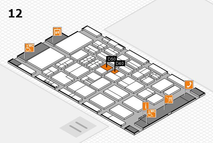 BEAUTY DÜSSELDORF 2017 Hallenplan (Halle 12): Stand D40, Stand D50
