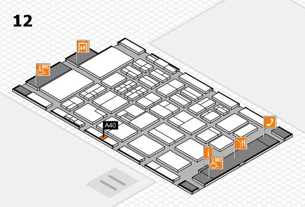 BEAUTY DÜSSELDORF 2017 hall map (Hall 12): stand A40