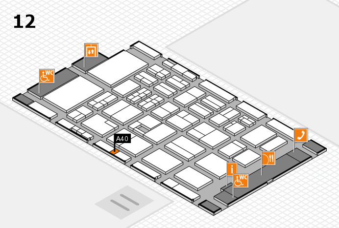 BEAUTY DÜSSELDORF 2017 hall map (Hall 12): stand A40