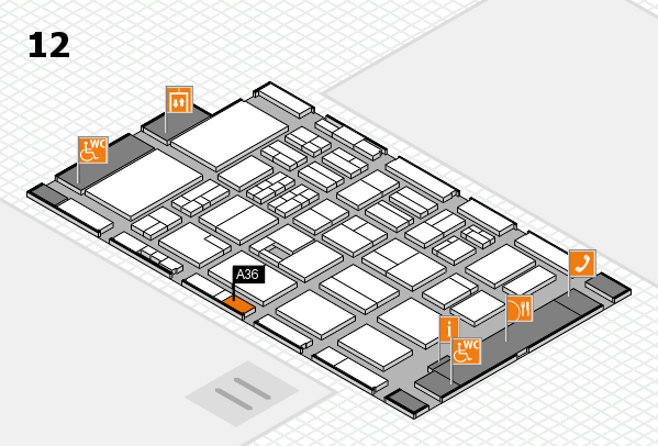 BEAUTY DÜSSELDORF 2017 Hallenplan (Halle 12): Stand A36