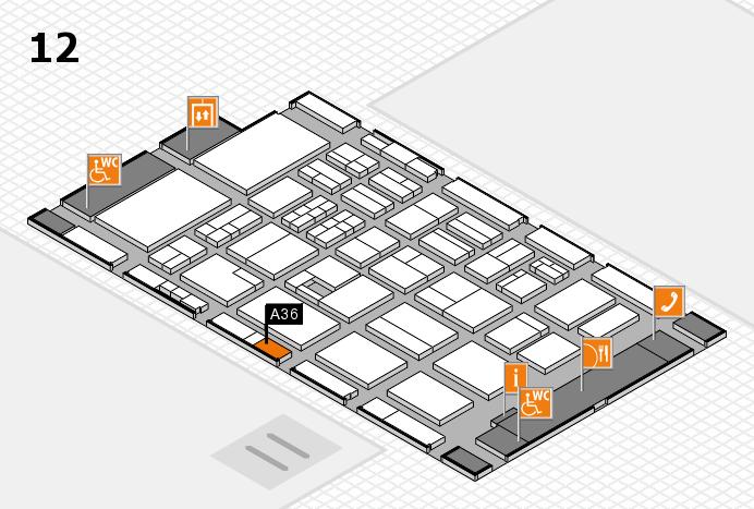 BEAUTY DÜSSELDORF 2017 hall map (Hall 12): stand A36
