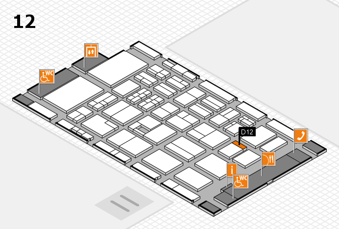 BEAUTY DÜSSELDORF 2017 hall map (Hall 12): stand D12