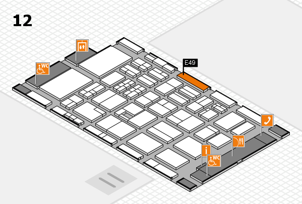 BEAUTY DÜSSELDORF 2017 hall map (Hall 12): stand E49