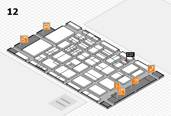 BEAUTY DÜSSELDORF 2017 hall map (Hall 12): stand E22