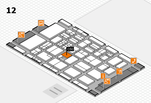 BEAUTY DÜSSELDORF 2017 hall map (Hall 12): stand C50