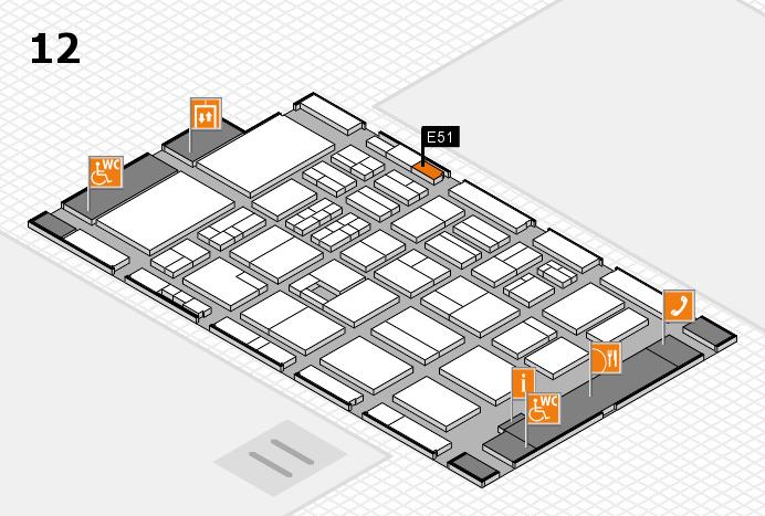 BEAUTY DÜSSELDORF 2017 Hallenplan (Halle 12): Stand E51