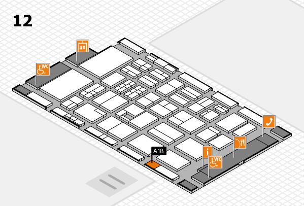 BEAUTY DÜSSELDORF 2017 hall map (Hall 12): stand A18