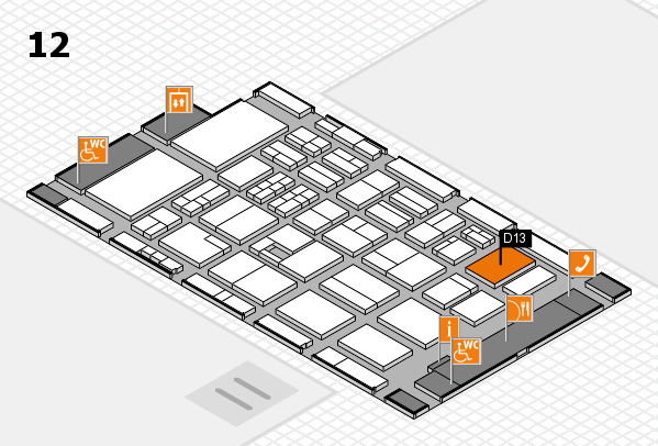 BEAUTY DÜSSELDORF 2017 hall map (Hall 12): stand D13