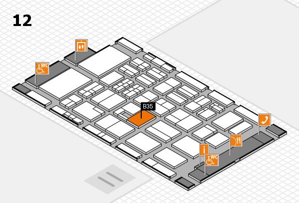 BEAUTY DÜSSELDORF 2017 hall map (Hall 12): stand B35