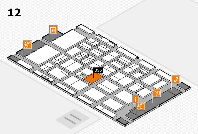 BEAUTY DÜSSELDORF 2017 Hallenplan (Halle 12): Stand B35