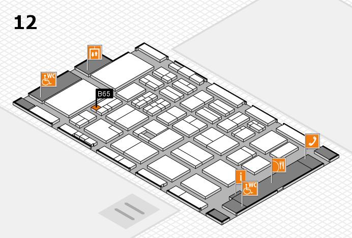 BEAUTY DÜSSELDORF 2017 Hallenplan (Halle 12): Stand B65