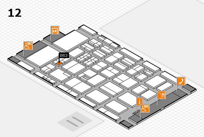 BEAUTY DÜSSELDORF 2017 hall map (Hall 12): stand B63