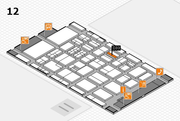 BEAUTY DÜSSELDORF 2017 Hallenplan (Halle 12): Stand D33