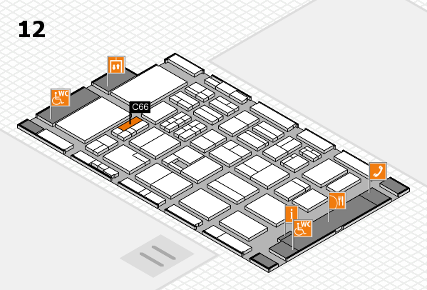 BEAUTY DÜSSELDORF 2017 hall map (Hall 12): stand C66