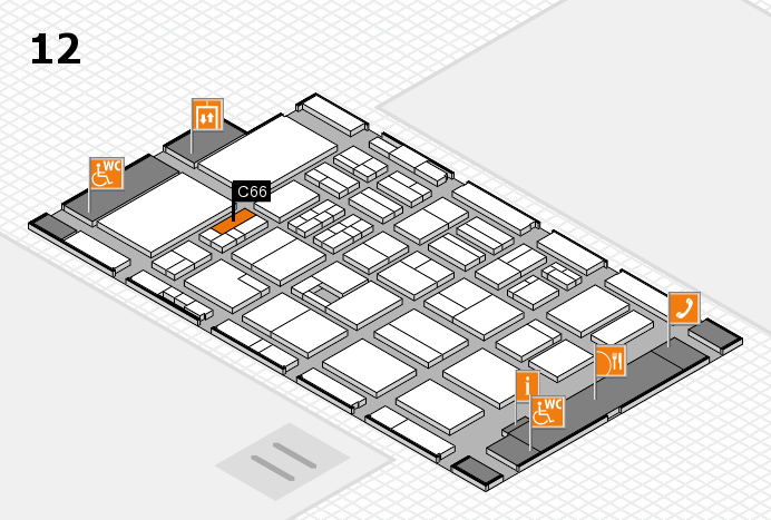 BEAUTY DÜSSELDORF 2017 Hallenplan (Halle 12): Stand C66