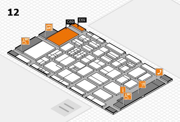 BEAUTY DÜSSELDORF 2017 hall map (Hall 12): stand C69, stand E69