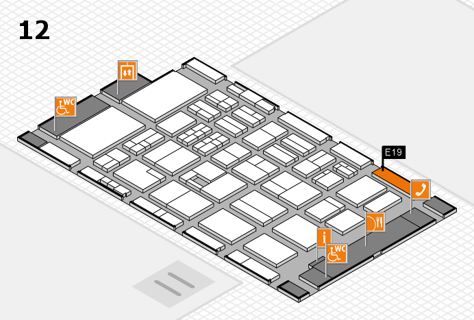 BEAUTY DÜSSELDORF 2017 hall map (Hall 12): stand E19