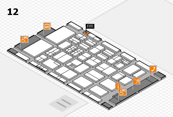 BEAUTY DÜSSELDORF 2017 Hallenplan (Halle 12): Stand E65