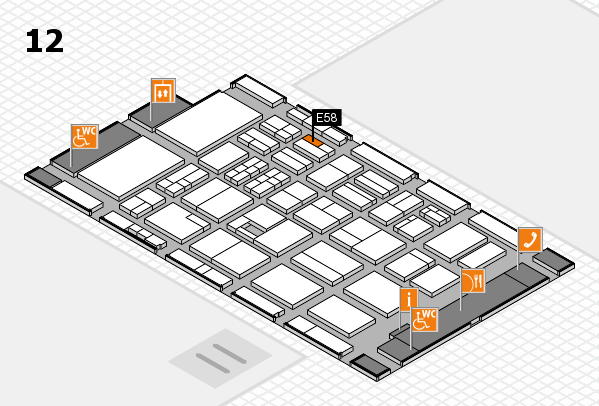 BEAUTY DÜSSELDORF 2017 hall map (Hall 12): stand E58